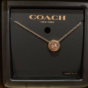 Coach Open Circle Stone Necklace💕
